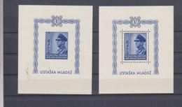 CROATIA WW II 1943 Pavelic Sheet Pair MNH - Kroatien
