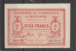 Chambre Commerce BAYONNE - Billet 2 Francs - 5/5/1920 - S NN - 08392 - TTB - Chambre De Commerce