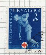 37CRT881 - CROAZIA 1943 ,  Beneficienza Unificato N. 2 Usato (CRT) - Kroatien