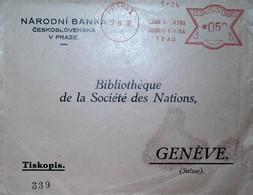 H 8 1939/45  Lettre /carte /documents Bibliothèque De La Société Des Nations - Guerre De 1939-45