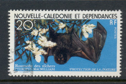 New Caledonia 1978 Nature Protection, Flying Fox FU - Usados