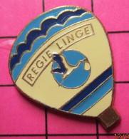 1120 Pin's Pins / Beau Et Rare / THEME : MONGOLFIERES / BALLON LIBRE REGIE LINGE CIGOGNE - Mongolfiere