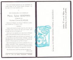 DP Marie Sylvie Vekeman ° Velzeke Zottegem 1882 † 1950 X Charles De Mesure / Stoepel Rouckhout - Imágenes Religiosas
