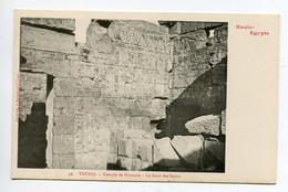 HAUTE EGYPTE 042 THEBES KARNAK  No 39 Temple De KHONSOU Le Saint Des Saints    - 1900  Dos Non Divisé Bergeret - Otros