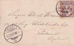 Kleinstformatiger Brief (10,0 X 6,3 Cm) Gelaufen Von Thusis Nach Parlermo - 1886         (10512) - Cartas