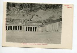 HAUTE EGYPTE 058 THEBES  No 23 Temple De DEIR El Bahri Colonnade  - 1900  Dos Non Divisé Bergeret - Otros