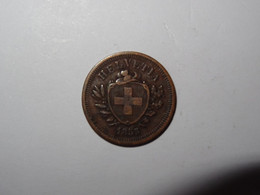 Suisse / Switzerland Pièce 1 Rappen 1855B - Switzerland