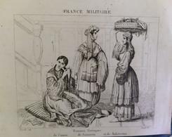 GRAVURE ENGRAVING. COSTUMES DE CASSOS, SANTORIN, MAKRINITZA VOLO GRECE GREECE. FRANCE MILITAIRE 1838 - Estampes & Gravures