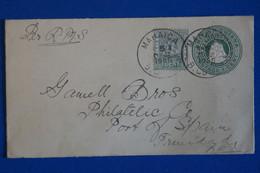 S23  BRITISH GUIANA  BELLE LETTRE RARE 1905 MAHAICA   + AFFRANCHISSEMENT INTERESSANT - Brits-Guiana (...-1966)
