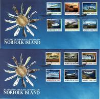 Norfolk Island 2012 Aircraft Landing 70 Years Set Of 12 On Two FDCs - Norfolk Island