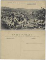 Brazil Rio Grande Do Sul 1910s Postcardseveral Horsemen In A Colonial Agricultural Center French Edition Unused - Altri