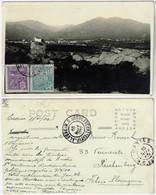 Brazil Rio Grande Do Sul 1922 Postcardview Of Caxias Do Sul Sent To Reichenberg Liberec Czechoslovakia 2 Stamp - Altri