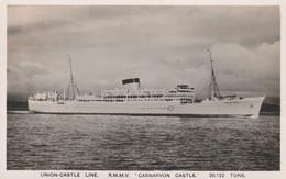 GB Postcard Shipping Union Castle Carnarvon Castle 1947 - Unclassified