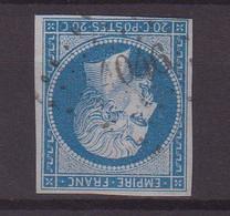 """FRANCE : PC 4046 . """" MORTCERF """" . (73) . N° 14 . ( CATALOGUE MATHIEU ) . - 1849-1876: Période Classique"""