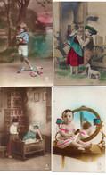 DC4979 - Ak Schöne Motivkarten Lot 4 Karten Kinder Belles Cartes De Motivation, Enfants - Abbildungen