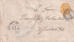 THURN UND TAXIS   ENTIER POSTAL/GANZSACHE/POSTAL STATIONARY LETTRE DE FRANKFURT - Stamped Stationery