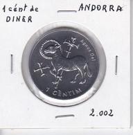 MONEDA  DE ANDORRA DE 1 CENTIM DEL AÑO 2002 - AGNUS DEI - Andorra