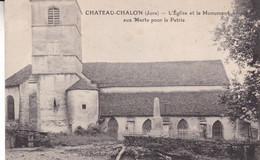 39-CHATEAU CHALON L EGLISE ET LE MONUMENT - Sonstige Gemeinden