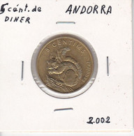 MONEDA  DE ANDORRA DE 2 CENTIMS DEL AÑO 2002 - ARDILLA - ESQUIROL - Andorra
