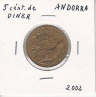 MONEDA  DE ANDORRA DE 2 CENTIMS DEL AÑO 2002 - UROGALLO - GALL FER - Andorra