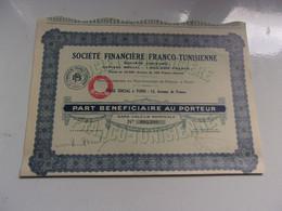 FINANCIERE FRANCO TUNISIENNE (tunis,tunisie) - Unclassified
