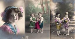 DC906 - Ak Schöne Motivkarten Lot 3 Karten Kinder Belles Cartes De Motivation, Enfants - Retratos