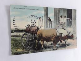 CUBA DELIVERING WATER TO RESIDENCES 1911 VERZONDEN NAAR BRUXELLES BELGIUM - Mundo