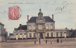 49 CHALONNES SUR LOIRE. CPA COLORISEE. L'HOTEL DE VILLE. ANIMATION. ANNEE 1907 + TEXTE - Chalonnes Sur Loire
