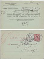 PARIS ENTIER POSTAL REPIQUE 1905 REPIQUAGE ET. METALLURGIQUES A. DURENNE - 1877-1920: Semi Modern Period