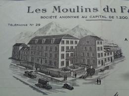 FACTURE - 74 - DEPARTEMENT DE LA HTE SAVOIE - BONNEVILLE 1930 - LES MOULINS DU FAUCIGNY - Zonder Classificatie