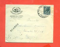 STORIA POSTALE REPUBBLICA. - STAMPATI -DA SAN GIOVANNI ROTONDO PER GENOVA - 1946-60: Storia Postale