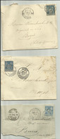 Lettres Type Sage Tàd Agen - 1877-1920: Semi Modern Period
