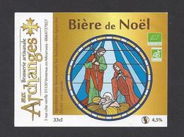 Etiquette De Bière De Noël  -  Brasserie  Aux Archanges à Ventenac En Minervois  (11) - Beer