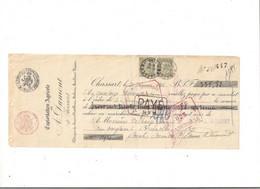 Belgique COB 59 Sur Reçu BRUXELLES 7 (Dumont De CHASSART) - 1893-1900 Fine Barbe