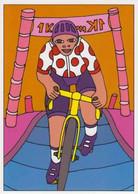 Cpm 1741/714 ERGON - Homme à Bicyclette - Chat - Vélo - Cyclisme - Bicycle - Illustrateur - Peintre - Ergon