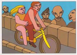 Cpm 1741/716 ERGON - Homme à Bicyclette - Chat - Vélo - Cyclisme - Bicycle - Illustrateur - Peintre - Ergon
