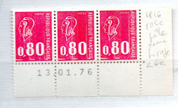 FRANCE N° 1816 0.80 ROUGE TYPE BEQUET ROSE PALE 3EME TIRAGE RGR NEUF SANS CHARNIERE - Curiosities: 1970-79 Mint/hinged