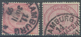 REICH - USED/OBLIT.- 1899 1891? - 2 STAMPS  -  Mi 37e OR 37f Yv 43 - Lot 23530 - Usati