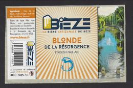 Etiquette De Bière Blonde De La Résurgence  -  Bièze  -  Brasserie De La Résurgence à Bèze  (21) - Birra
