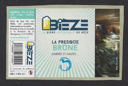 Etiquette De Bière  De La Presque Brune  -  Bièze  -  Brasserie De La Résurgence à Bèze  (21) - Birra