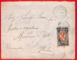 Aa0178 - ETHIOPIA - POSTAL HISTORY - Single Stamp On COVER To ITALY  1928 - Ethiopia
