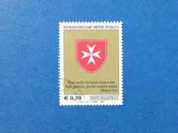 2007 SOVRANO ORDINE MILITARE DI MALTA FRANCOBOLLO USATO STAMP USED SMOM CROCE OTTAGONA E BEATITUDINI 0,50 - Malte (Ordre De)