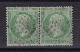 D 176 / LOT NAPOLEON N° 20 PAIRE OBL COTE 25€ - 1862 Napoleon III