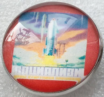 628-6 Space Russian Pin Socialism Rocket - Spazio