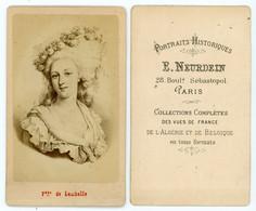 PHOTO 85mm X 55mm Marie-Thérèse-Louise De Savoie-Carignan, Princesse De Lamballe, Dite « Mademoiselle De Carignan » Ou « - Old (before 1900)