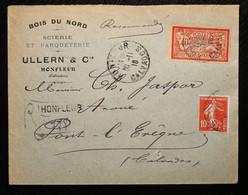 14 - Calvados Recommandé D'Honfleur 1918.(sans Vignette De Recommandation ?) - 1921-1960: Modern Period