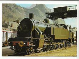 73 Centenaire Du Tunnel Du Mont Cenis Train Locomotive à Vapeur Et Wagons TEE En 10/1971 - Other Municipalities