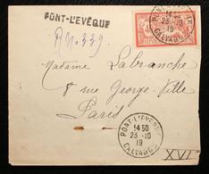 14 - Calvados Lettre Recommandée De Pont L'Evêque Pour Paris 1919 - 1921-1960: Modern Period