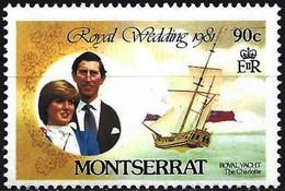 "Montserrat 1981 - Mi 465A - YT 466 ( Lady Diana & Prince Charles - Sailing Ship ""Charlotte "" ) MNH** - Montserrat"