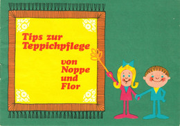 """DDR Berlin Unter Den Linden 62 1976 A5 Deko 12-s Reklame-Kinderbuch """" WIRATEX Teppichpflege-Tips Von NOPPE Und FLOR """" - Advertising"""